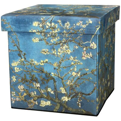 Van Gogh Almond Branch Storage Ottoman
