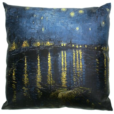 Van Gogh Over the Rhone Throw Pillow