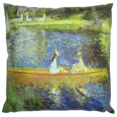 Renoir on the Seine Throw Pillow