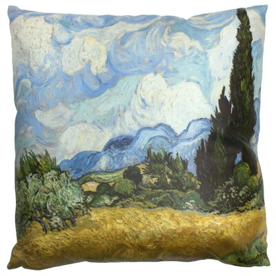 Van Gogh Wheat Field Throw Pillow