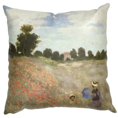 Monet Poppies Throw Pillow
