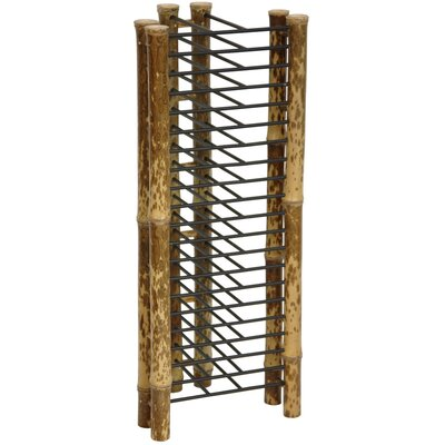 Japanese Bamboo Vertical Multimedia Tabletop Storage