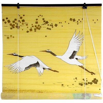 Cranes Shoji Rice Paper Roller Blind Size: 48 W x 72 L