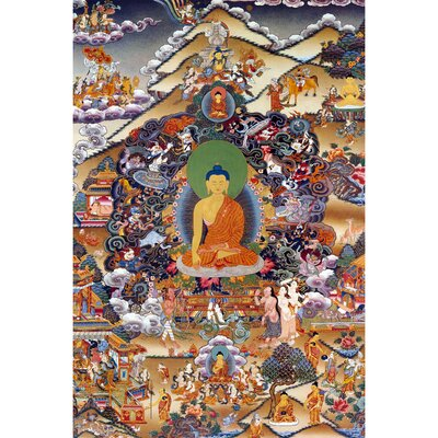 'Footprints of Enlightenment Tibetan' Graphic Art on Wrapped Canvas CAN-ART-TIB5