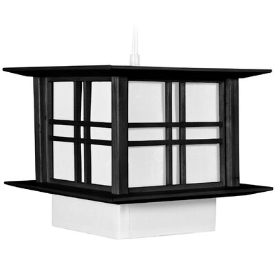 Akida 1-Light Lantern Pendant Color: Black