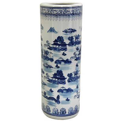 Buy landscape decorative stands - Oriental Furniture Landscape Umbrella Stand