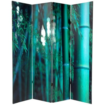 """70.88"""" x 63"""" Bamboo Tree Double Sided 4 Panel Room Divider CAN-BAMB-4P"""