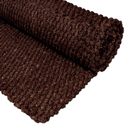 Handmade Dark Brown Solid Area Rug Rug Size: 111 x 211