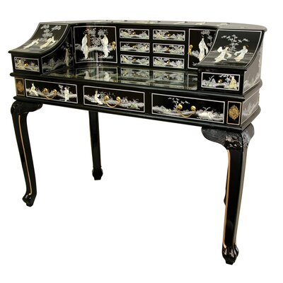 User friendly Roll Secretary Desk Mother Pearl Design Product Photo