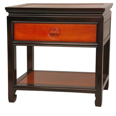 1 Drawer Nightstand Finish Light and Medium Cherry Stain