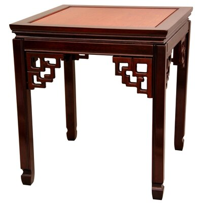 Ming End Table Color: Honey and Cherry
