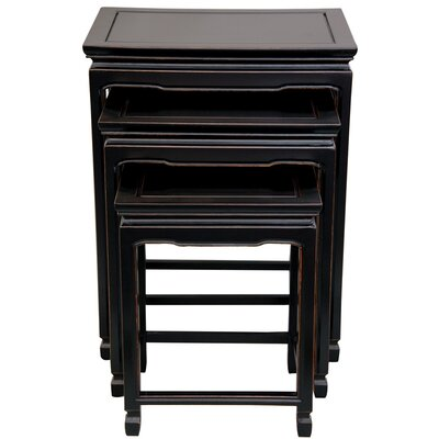 3 Piece Nesting Tables Color: Antique Black