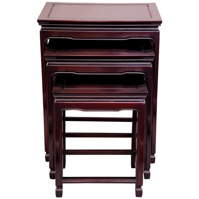 3 Piece Nesting Tables Color: Rosewood