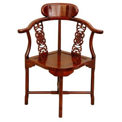 Corner Arm Chair Finish: Honey
