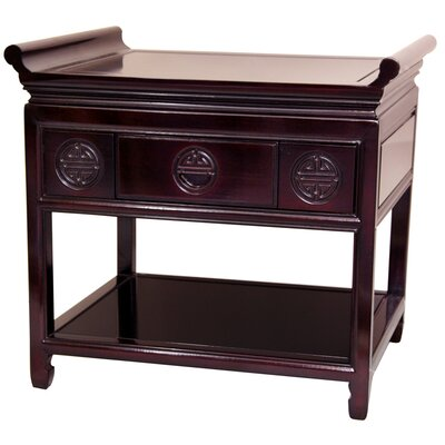 Image of Oriental Furniture Altar Table in Rosewood Height: 22