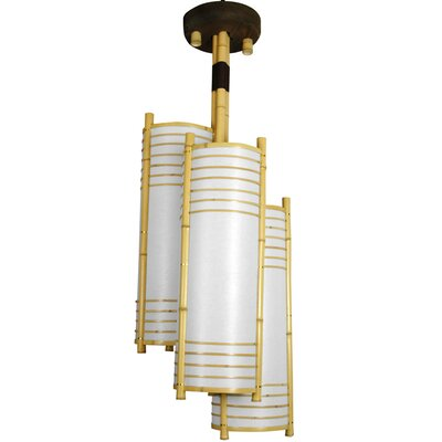 Japanese 3-Light Foyer Pendant
