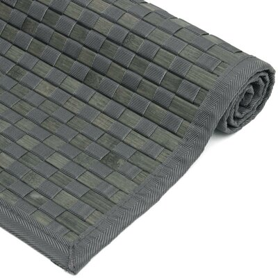 Davita Checkerboard Handmade Gray Area Rug Rug size: Rectangle 60 x 96