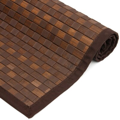 Davita Checkerboard Handmade Mocha Area Rug Rug size: Rectangle 60 x 96