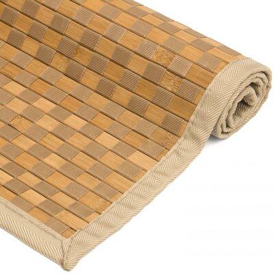 Davita Checkerboard Handmade Natural Area Rug Rug size: 60 W x 96 L