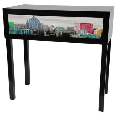 Cheap Oriental Furniture Colorful New York Console Table in Black Lacquer (OFN3636)
