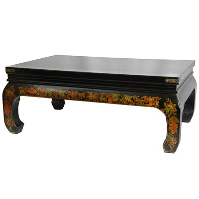 Peaceful Village Coffee Table Finish: Black Lacquer
