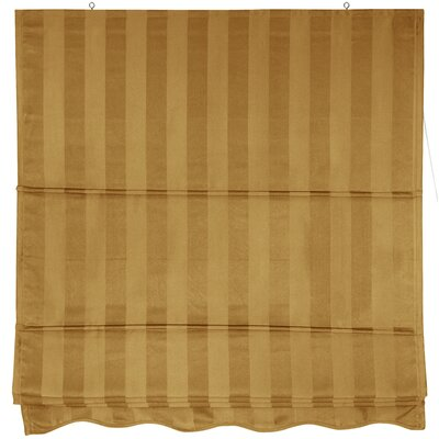 Striped Retractable Cotton Roman Shade Size: 72 W x 72 L, Color: Soft Gold