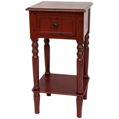 End Table Color: Antique Red