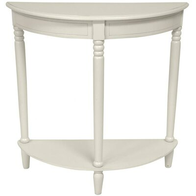 Half Round Console Table Finish: White
