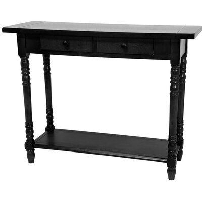 Foyer Console Table with 2 Drawers Finish: Black