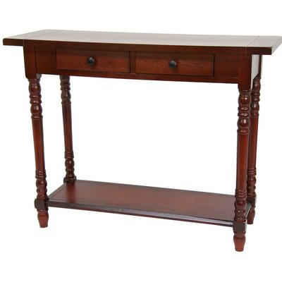 Cheap Oriental Furniture Foyer Table with 2 Drawers in Cherry (OFN3574)