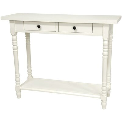Foyer Console Table with 2 Drawers Finish: White