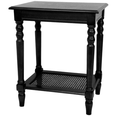 End Table Finish: Black