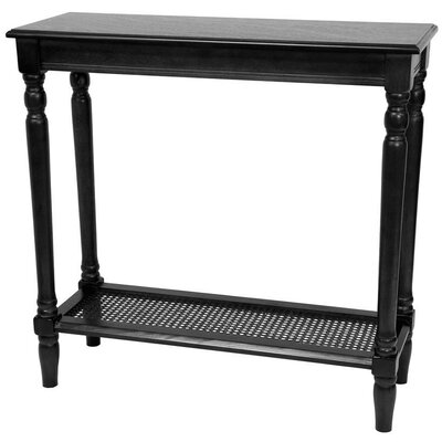 Rectangular Console Table Finish: Black