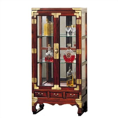 Cheap Oriental Furniture Asian Glass Display Cabinet (OFN1263)