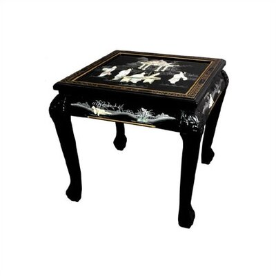 Chinese End Table Color: Black