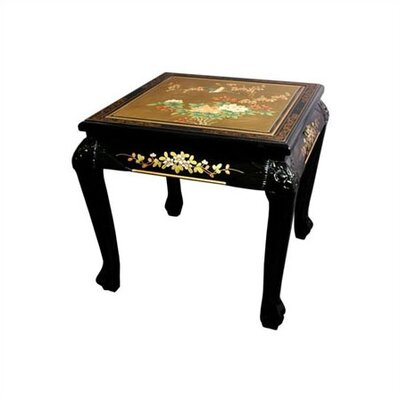Chinese End Table Finish: Gold