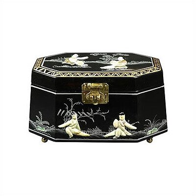 Antoinette Asian Jewelry Box LCQ-327-BM