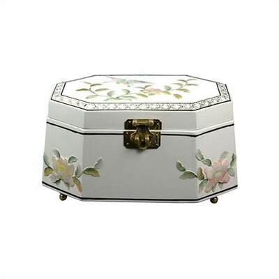 Oriental Furniture Antoinette Jewelry Box in White LCQ-327-WM