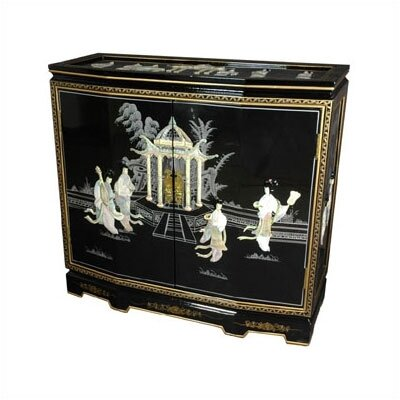 Chinese Ladies Design Slant Front Cabinet -- 32