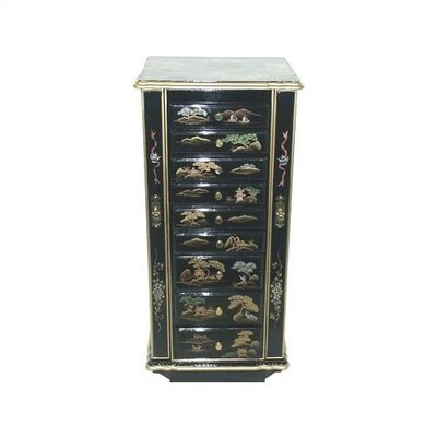 Black Imperial Jewelry Cabinet