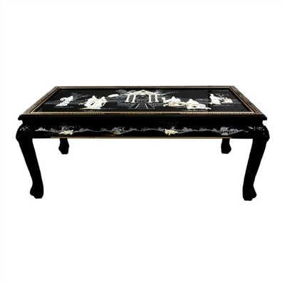 cheap oriental furniture black mother of pearl coffee table with claw feet ofn1398 cheap oriental furniture