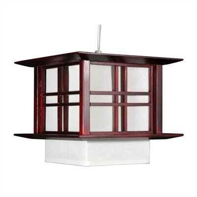 Akida 1-Light Lantern Pendant Color: Rosewood