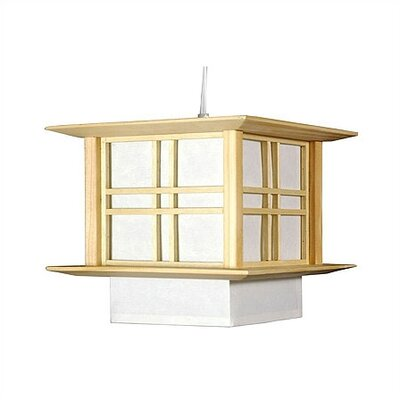 Akida 1-Light Lantern Pendant Color: Natural