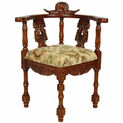 Oriental Furniture Queen Anne Corner Fabric Arm Chair at Sears.com