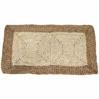 Rush Grass and Maize Two Tone Dark Ivory Area Rug Rug Size: 16 x 27
