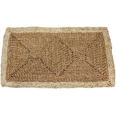 Rush Grass and Maize Two Tone Brown Area Rug Rug Size: 16 x 27