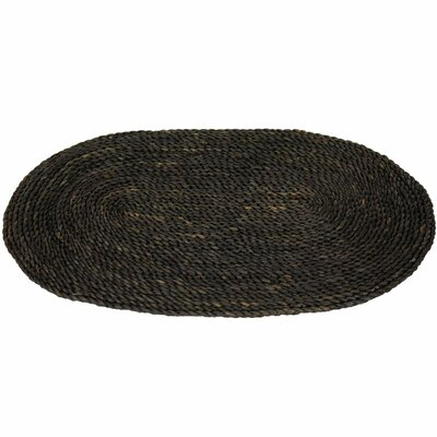 Maize Black Oval Area Rug Rug Size: Oval 16 x 26