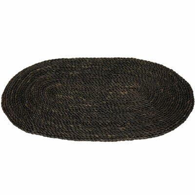 Maize Black Oval Area Rug Rug Size: Oval 16 x 26
