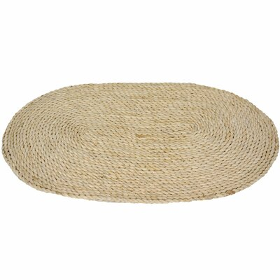Maize Natural Oval Area Rug Rug Size: Oval 16 x 26