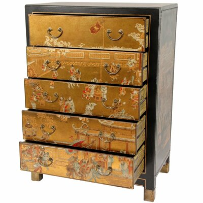 Furniture bedroom furniture drawer chest hand for Hand painted oriental furniture